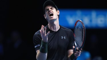 Sensitive soul: Andy Murray during his match against Kei Nishikori of Japan on day four of the ATP World Tour Finals.