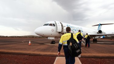 Fly-in fly-out workers were making up to $150,000 during the mining boom.