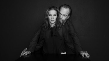 "Rachel Griffiths and Hugo Weaving. ""I'd work with Hugo on anything, anywhere,"" she says."