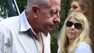 Mark and Faye Leveson at the search site on Friday.