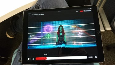 With its big screen and great audio, the Pro would make a great Netflix machine for long trips or hotel stays, but apps which haven't yet been optimised for the bigger display have stretched and bloated UI elements (including the virtual keyboard).
