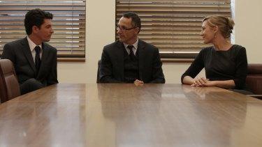 The new leadership team: Greens Leader Senator Richard Di Natale with his co-deputies Senator Larissa Waters and Senator Scott Ludlam.