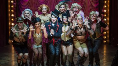 Seat-of-the-pants: the cast of Cabaret.