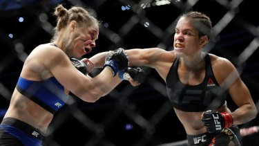 Amanda Nunes unleashed a flurry on Ronda Rousey from the first bell.