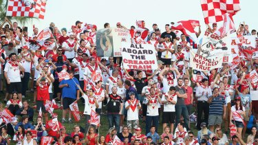 Red, white and rabid: Dragons fans can take their passion too far sometimes.