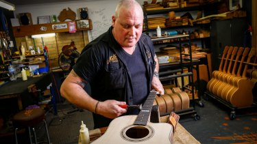 Head luthier at Maton Guitars, Andy Allen.