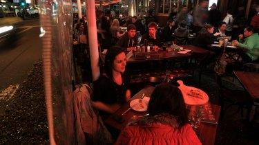 The al fresco restaurants along Eat Street in Parramatta face disruption.