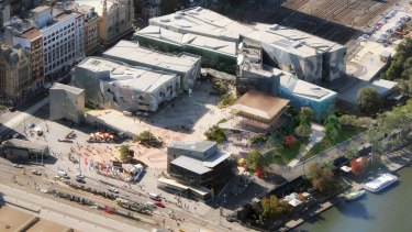 The new Apple store, as it will appear from the air.