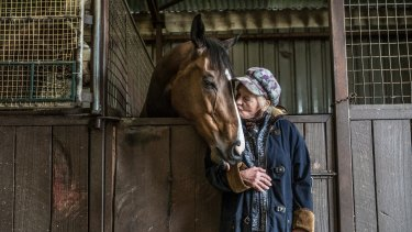 Friends for life: Cardinia trainer Udyta Clarke and the six-year-year old gelding Heza Dude (aka Caspa), whose life she saved as a foal.