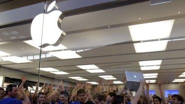 Get excited: Apple retail staff.