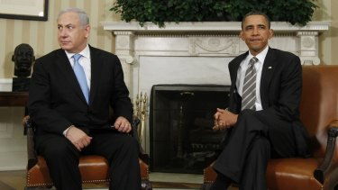 Opposing views: Israel's Prime Minister Benjamin Netanyahu and US President Barack Obama.