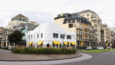 A hotel, near where cruise boats dock in Port Melbourne, has been on the site since 1861.