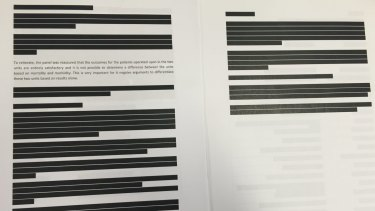 Redacted version of the Sydney Children's Hospital Network report into the provision of cardiac services, released under freedom of information laws.