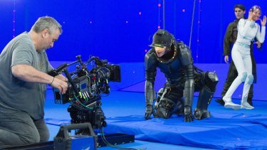 Luc Besson on the Paris set of <i>Valerian and the City of a Thousand Planets</i>.
