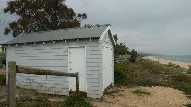 Arico's Safety Beach bathing box on the Mornington Peninsula.