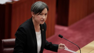 "Game-changer: Penny Wong says China's initiative ""represents a rejection of the conventional ways of doing business."""