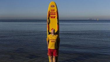 St Kilda's Life Saving Club captain Simon Lewis.