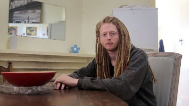 Ben Mutch, at home in Warrnambool, is unemployed was pressured into signing up for a training course, with Aquired Learning.