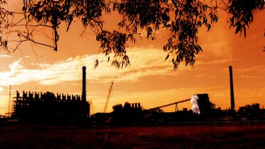 Queensland Nickel's plant outside Townsville.
