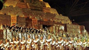 <i>Aida</i> was staged in a Shanghai football stadium in 2000.