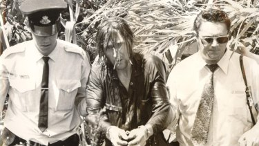 Kevin Crump during his arrest in 1974.
