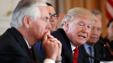 US President Donald Trump and Secretary of State Rex Tillerson.