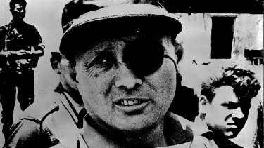 Moshe Dayan, Israeli Minister of Defence during the Six Day War.