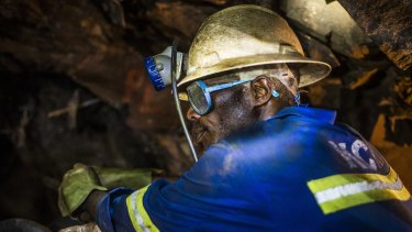 A copper ore miner in Zambia: Antofagasta sees the glut in the red metal lasting for another two years.