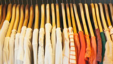 """Closet organisation: """"Hang up clothes that look happier."""""""