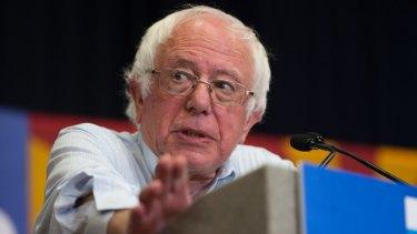 Democratic Senator Bernie Sanders says President Donald Trump is a liar.