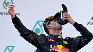 "Australian F1 driver Daniel Ricciardo started the ""shoey'' phenomenon."
