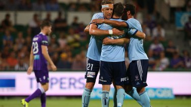 Net results: Mark Janko is one goal away from equalling Alessandro Del Piero's record for Sydney FC.