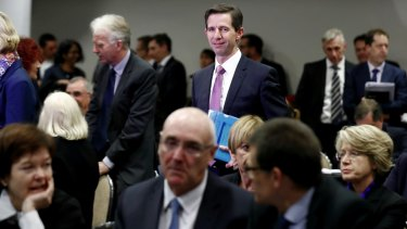 Minister for Education and Training Simon Birmingham presented his higher education plans to university leaders at a tense meeting in May.