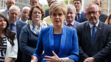 Nicola Sturgeon (centre) joined her Welsh counterpart in slamming the Great Repeal Bill.