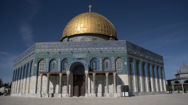 The Dome of The Rock on Temple Mount in the Old City in Jerusalem, Israel.