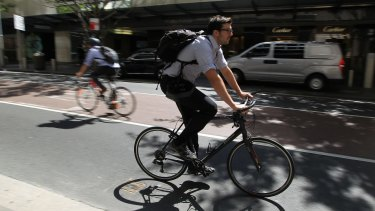 Cyclists will have to do without a lane extension on Castlereagh Street while light rail works are in progress.