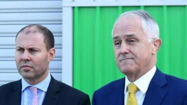 Prime Minister Malcolm Turnbull (right) and Energy Minister Josh Frydenberg are trying to ramp up pressure on the states to support the national energy guarantee.