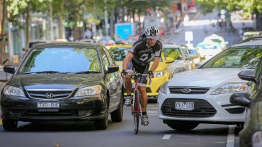 Cyclists have reported feeling tense and in constant fear of colliding with pedestrians on Melbourne's shared pathways.