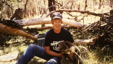 On a field trip in the Brisbane Ranges, west of Melbourne, in 1986: