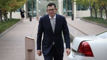 Sad state of affairs: Victorian Premier Daniel Andrews had to soldier on this week following the death of his father.