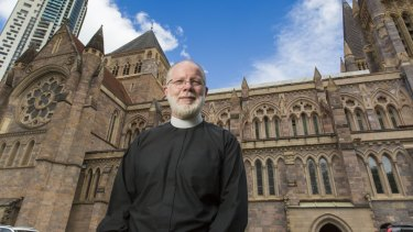 Dean of Brisbane Dr Peter Catt, at St John's Anglican Cathedral.