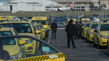 The taxi holding area at Melbourne Airport.