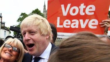 The Brexit figurehead, former London mayor Boris Johnson.