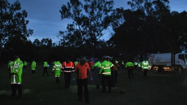 City of Perth rangers round up belongings on the island