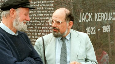 """Ferlinghetti, left, and Allen Ginsberg in 1988. Though their friendship lasted until Ginsberg's death in 1997, Ferlinghetti kept himself at a remove. """"I was his publisher, not his playmate."""""""