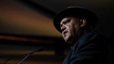 Noel Pearson at the Queensland Media Club on Thursday.