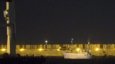 Pro-Palestinian ship Marianne of  Gothenburg is escorted to Ashdod port in southern Israel after it was seized by the Israeli Navy.