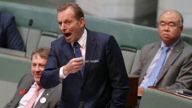 Former prime minister Tony Abbott hits back in Parliament.