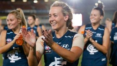Looking to the future: Carlton captain Lauren Arnell.