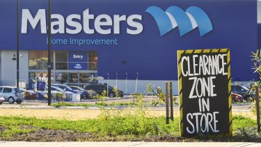 Masters stores are estimated to be losing about $78,000 a week.